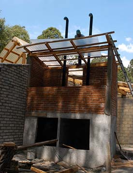 composting toilet under construction