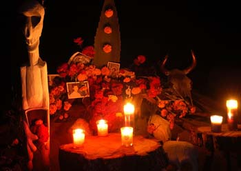 Our ofrenda at night