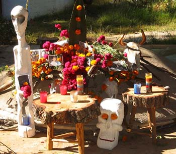 Ofrenda during the day